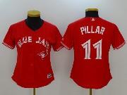 Women Mlb Toronto Blue Jays #11 Kevin Pillar New Red Cool Base Jersey