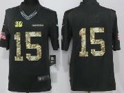 Mens Cincinnati Bengals #15 John Ross Black Anthracite Salute To Service Limited Jersey