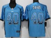 Mens Nfl Detroit Lions #40 Jarrad Davis Drift Fashion Blue Elite Jersey