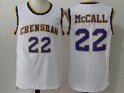 Mens Nba Movie Crenshaw High School Love&basketball #22 Quincy Mccall White Jersey