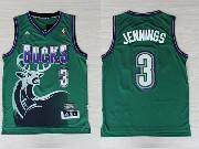 Mens Nba Milwaukee Bucks #3 Brandon Jennings Green Hardwood Classic Swingman Jersey