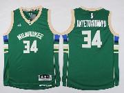 Mens Nba Milwaukee Bucks #34 Giannis Antetokounmpo Green Road Jersey
