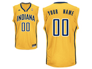 Mens Women Youth Nba Indiana Pacers Custom Made Yellow Alternate Jersey