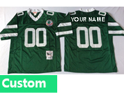 Mens Nfl New York Jets Custom Made Green Throwbacks Jersey