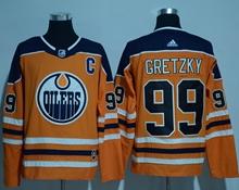 Mens Adidas Nhl Edmonton Oilers #99 Wayne Gretzky Orange Jersey