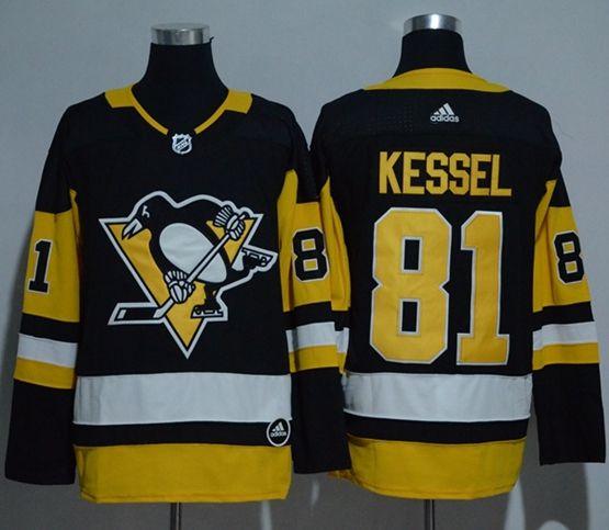 Mens Adidas Nhl Pittsburgh Penguins #81 Phil Kessel Black Jersey