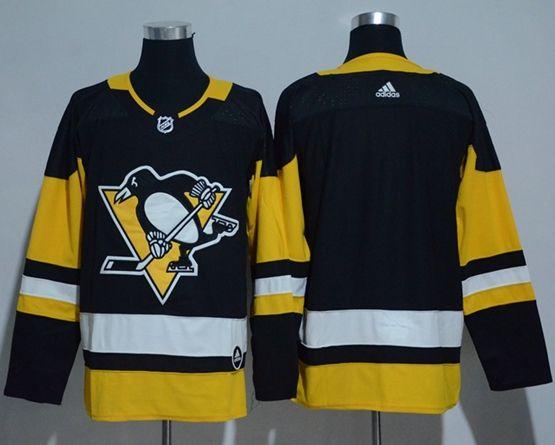 Mens Adidas Nhl Pittsburgh Penguins Blank Black Jersey