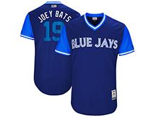 Mens Mlb Toronto Blue Jays #19 Jose Bautista ( Joey Bats) Majestic Royal 2017 Players Weekend Authentic Jersey