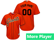Mens Womens Youth Majestic San Francisco Giants Orange Cool Base Current Player Jersey