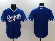 Mens Majestic Kansas City Royals Blank Blue 2017 Players Weekend Jersey