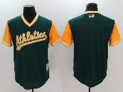 Mens Majestic Mlb Oakland Athletics Blank Green 2017 Players Weekend Jersey