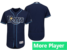 Mens Mlb Majestic Tampa Bay Rays Navy Flex Base Current Player Jersey
