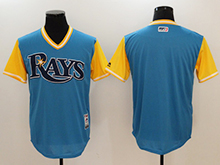 Mens Majestic Tampa Bay Rays Blank Light Blue 2017 Players Weekend Jersey