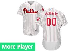 Mens Majestic Philadelphia Phillies White Stripe Flex Base Current Player Jersey