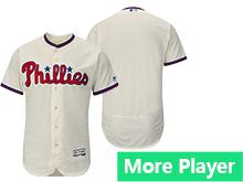 Mens Majestic Philadelphia Phillies Gray Cream Flex Base Current Player Jersey