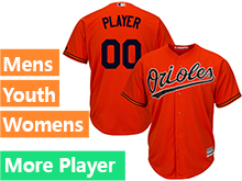 Mens Womens Youth Majestic Baltimore Orioles Orange Cool Base Current Player Jersey