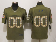 Mens Nfl New Orleans Saints Custom Made Green Salute To Service Limited Jersey