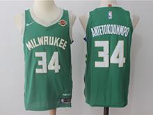 Mens Nba Milwaukee Bucks #34 Giannis Antetokounmpo Green Nike Jersey