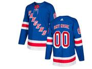 Mens Women Youth Nhl New York Rangers Custom Made Blue Home Premier Adidas Jersey