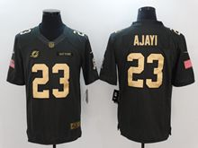 Mens Nfl Miami Dolphins #23 Ajayi Salute To Service Limited Gold Number Jersey