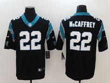 Mens Nfl Carolina Panthers #22 Christian Mccaffrey Black Vapor Untouchable Limited Jersey