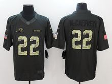 Mens Nfl Carolina Panthers #22 Christian Mccaffrey Black Anthracite Salute To Service Limited Jersey