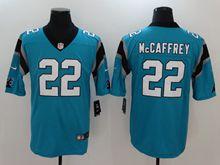 Mens Women Nfl Carolina Panthers #22 Christian Mccaffrey Blue Vapor Untouchable Limited Jersey