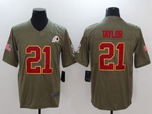 Mens Nfl Washington Redskins #21 Sean Taylor Green Olive Salute To Service Limited Nike Jersey