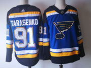 Mens St.louis Blues #91 Vladimir Tarasenko Home Premier Blue Adidas Jersey