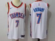 Mens Nba Oklahoma City Thunder #7 Carmelo Anthony White Nike Jersey