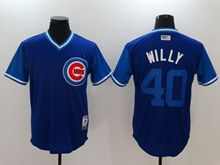 Mens Mlb Chicago Cubs #40 Willson Contreras (willy) Majestic Navy 2017 Players Weekend Authentic Jersey