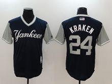 Mens Mlb New York Yankees #24 Gary Sanchez (kraken) Majestic Black 2017 Players Weekend Authentic Jersey