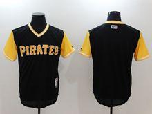 81b73535b Mens Majestic Mlb Pittsburgh Pirates Blank Black Majestic 2017 Players  Weekend Authentic Jersey