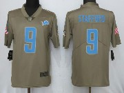 Mens Women Youth Nfl Detroit Lions #9 Matthew Stafford Green Olive Salute To Service Limited Nike Jersey