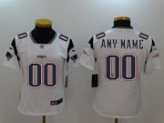 Women Nfl New England Patriots Custom Made White Vapor Untouchable Limited Jersey