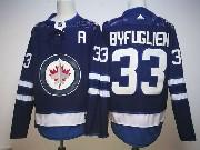 Mens Nhl Winnipeg Jets #33 Dustin Byfuglien Dark Blue Adidas Jersey