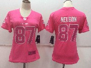 Women Nfl Green Bay Packers #87 Nelson Pink Vapor Untouchable Limited Jersey