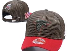 Mens Atlanta Falcons Black Peaked Caps