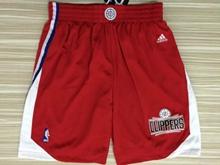 Mens Nba Los Angeles Clipper Red 2015 Shorts