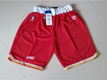 Mens Nba Houston Rockets Red Mitchell&ness Mesh Shorts