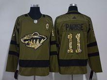 Mens Nhl Minnesota Wild #11 Zach Parise Green Adidas Hockey Jersey