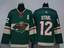 Mens Nhl Minnesota Wild #12 Staal Green Home Premier Adidas Jersey