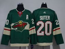 Mens Nhl Minnesota Wild #20 Ryan Suter Green Home Premier Adidas Jersey
