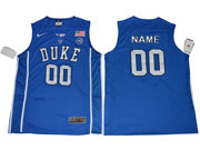 Mens Ncaa Nba Duke Blue Devils Custom Made Blue Jersey