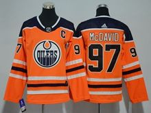 Youth Women Nhl Edmonton Oilers #97 Connor Mcdavid Orange Adidas Jersey