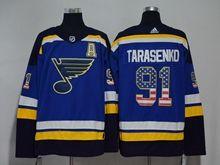 Mens Nhl St.louis Blues #91 Vladimir Tarasenko Blue (usa Flag Fashion) Adidas Jersey A Patch