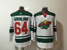 Mens Nhl Minnesota Wild #64 Granlund White Home Premier Adidas Jersey
