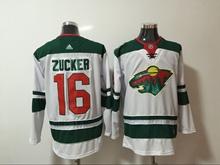 Mens Nhl Minnesota Wild #16 Zucker White Home Premier Adidas Jersey