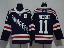 Mens Nhl New York Rangers #11 Messier Dark Blue 2018 Winter Classic Breakaway Adidas Jersey