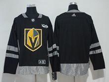 Mens Nhl Vegas Golden Knights (custom Made) Black Adidas Jersey